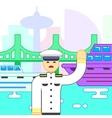 Ship captain icon vector image vector image