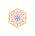 Snowflake Christmas Decoration Isolated vector image vector image
