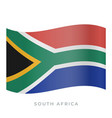 south africa waving flag icon vector image
