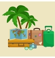 Traveling bag suitcase for trip or vocation vector image vector image