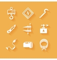 Trendy flat working tools icons white silhouettes vector image vector image