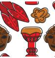 tunisian symbols seamless pattern ethnic vector image vector image