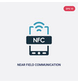 two color near field communication icon from vector image vector image