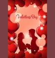 valentine day greeting card couple embracing over vector image vector image