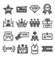 vip icons set on white background vector image vector image