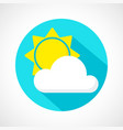 weather little cloudy day icon vector image vector image