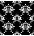 White colored floral arabesque seamless pattern vector image vector image