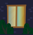 window night home happiness family flat ill vector image