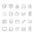 Business and office icons 1 vector image