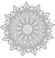 decorative flower round ornament vector image