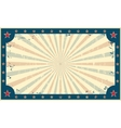 Template for circus funfair poster or ticket vector image