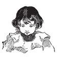 a innocent face a boy vintage engraving