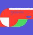 abstract colorful landing page template set with vector image vector image