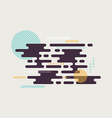 abstract geometric modern retro style background vector image