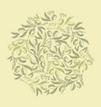 abstract natural vintage green round composition vector image vector image
