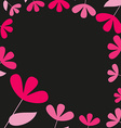 Abstract pink and red floral card vector image vector image