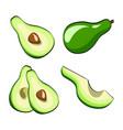 avocado vegetable set on pop art retro comic vector image