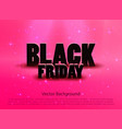 black friday sale pink background vector image vector image