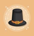 black hat cartoon vector image