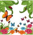 butterfly garden vector image vector image