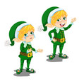 cartoon animated boy leprechaun happy and crying vector image vector image