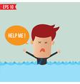 Cartoon business man shouting for help - - E vector image vector image