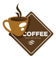 coffee house or shop steaming cup isolated icon vector image vector image