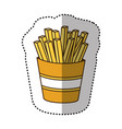 color fries french fast food icon vector image vector image