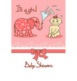 cute bashower card vector image