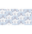 cute mouses love valentines day seamless pattern vector image