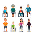 disablement person blind disability people and vector image vector image