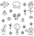Doodle of spring set collection stock vector image vector image