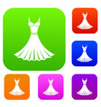 dress set collection vector image vector image