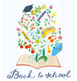 Educational background with book vector image vector image