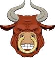 Ferocious bull vector image vector image