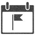 Flag Calendar Day Grainy Texture Icon vector image