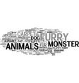 furry word cloud concept vector image vector image
