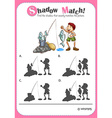Game template with matching picture vector image vector image