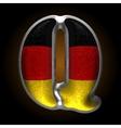 Germany metal figure q vector image vector image