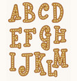 gingerbread font happy new year christmas vector image vector image