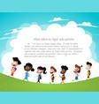 group of children going to school vector image