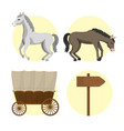 horse and carriages vector image