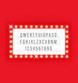 illuminated retro cinema frame template for a text vector image vector image