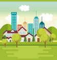 landscape with neighborhood scene vector image