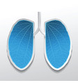 lungs abstract in blue color vector image vector image
