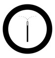 magic wand icon black color in circle vector image