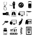 Medical tests icons set vector image vector image