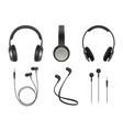 music earphones quality electronic items stereo vector image