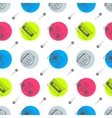 music flat line retro seamless pattern vector image