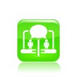 pc chat icon vector image vector image
